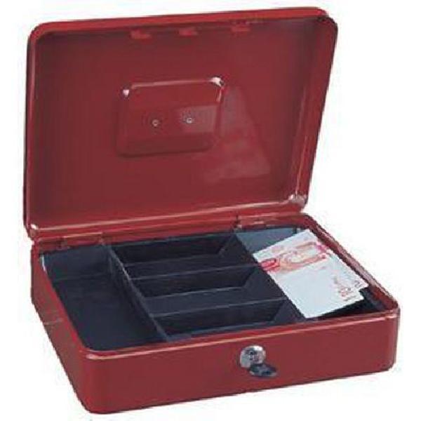 Přenosná pokladna, 5 přihrádek, červená (MB-885440)
