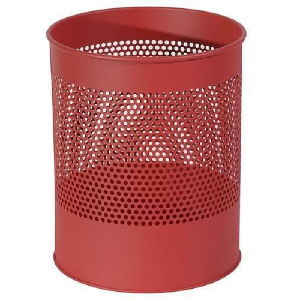 Kovový odpadkový koš Gap, objem 15 l, červený (MB-973014)