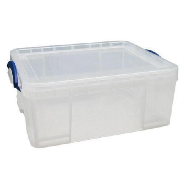 Plastový úložný box s víkem na klip, průhledný, 18 l (MB-932302)