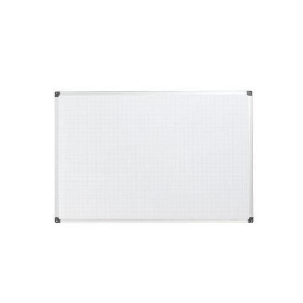 Bílá magnetická tabule Bi-Office s rastrem, 60 x 90 cm (MB-880013)
