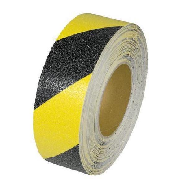 Protiskluzová podlahová páska, 18 m, černá/žlutá (MB-731006)