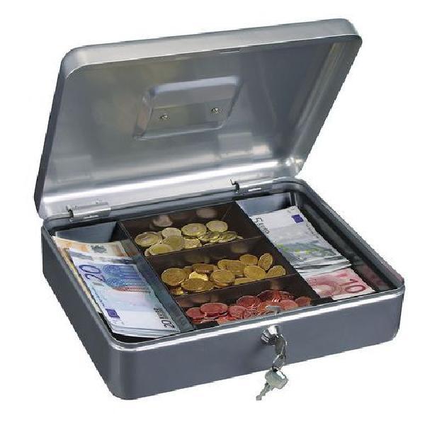 Přenosná pokladna, 5 přihrádek, stříbrná (MB-885442)