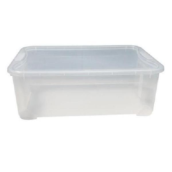 Plastový úložný box s víkem, průhledný, 31 l (MB-813122)