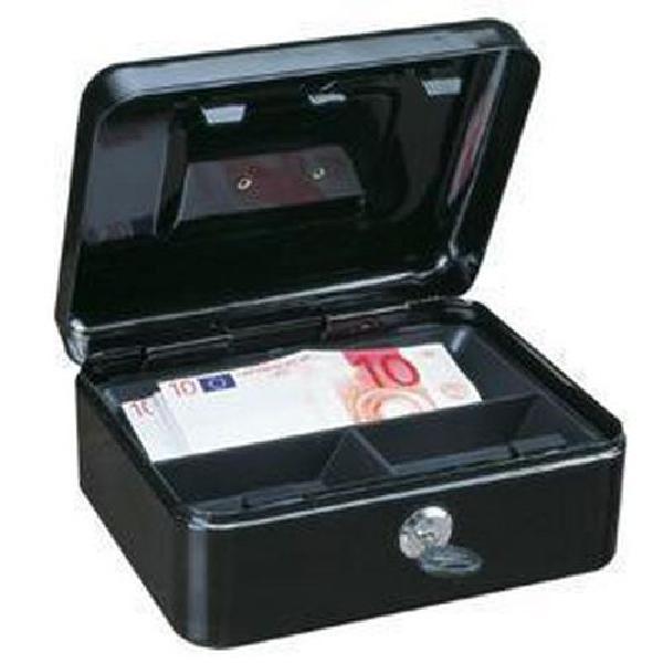 Přenosná pokladna, 3 přihrádky, černá, 9 x 20 x 16,5 cm (MB-885435)