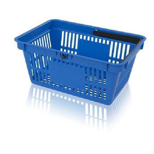Plastový nákupní košík, modrý (MB-1070125)