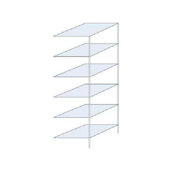 Kovový regál Ogmios, přístavbový, 250 x 75 x 80 cm, 1 700 kg, 6 polic, pozink (MB-1006629)