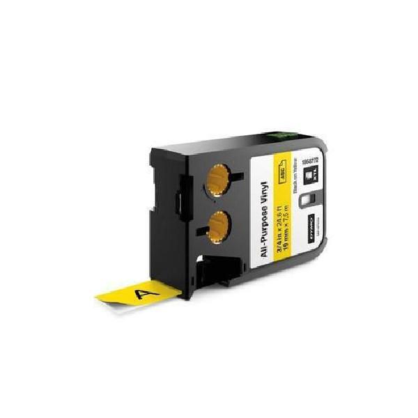 Vinylová univerzální páska XTL, 19 mm, 7 m, černá na žluté (MB-1072125)