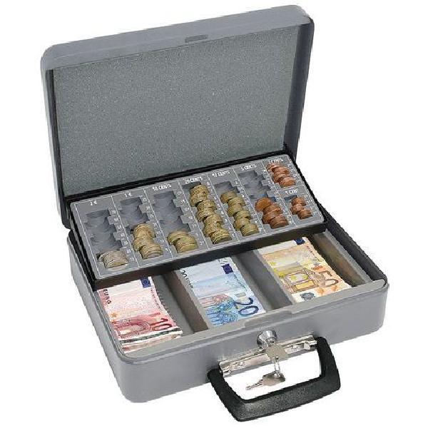 Přenosná pokladna s EUR mincovníkem, 3 přihrádky (MB-043123)