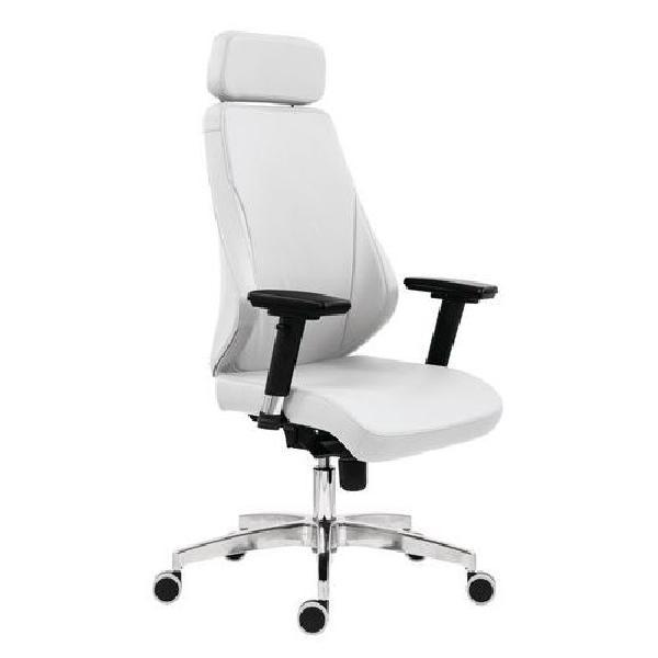 Kancelářské křeslo Nella Alu, bílá (MB-217462)