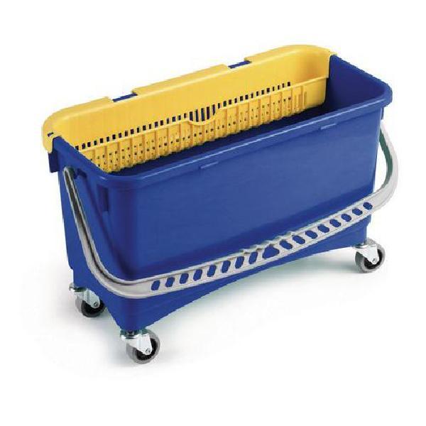Úklidový kbelík na kolečkách s ručním ždímačem, 20 l (MB-316053)
