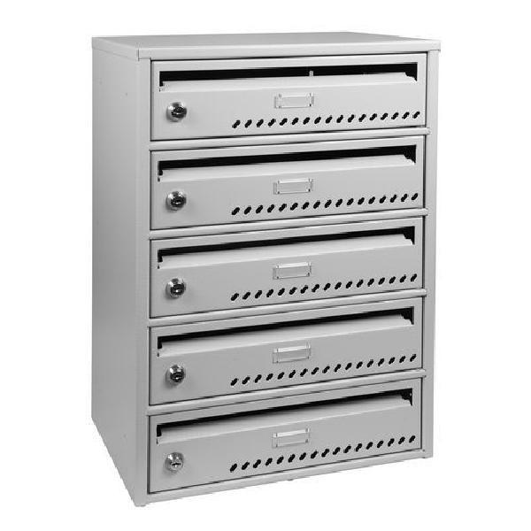 Modulová kovová poštovní schránka TG, 5 boxů (MB-415133)