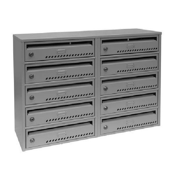 Modulová kovová poštovní schránka TG, 10 boxů (MB-415136)