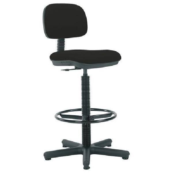 Pracovní židle Senior s kluzáky, černá (MB-1026179)