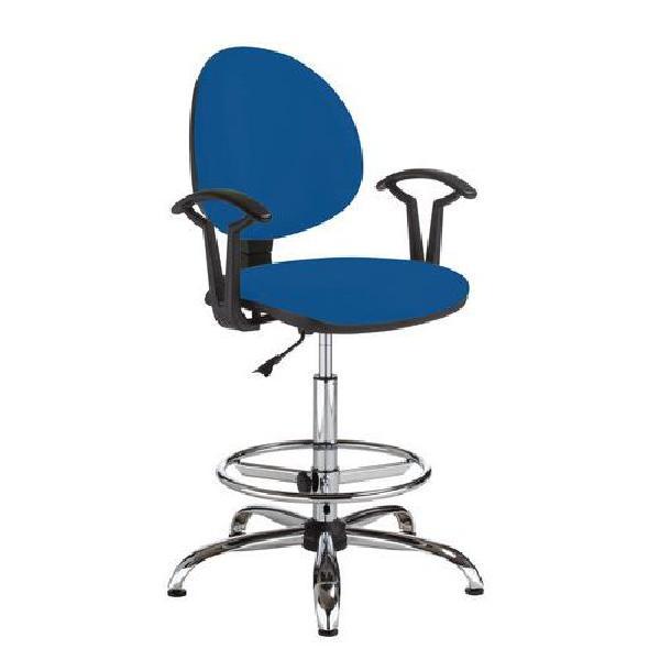 Pracovní židle Smarty s kluzáky, modrá (MB-1026182)