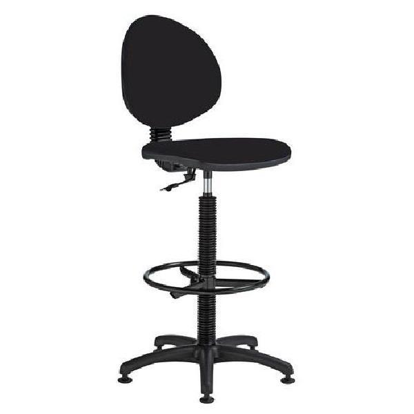 Zvýšená pracovní židle Stella s kluzáky, černá (MB-1026183)