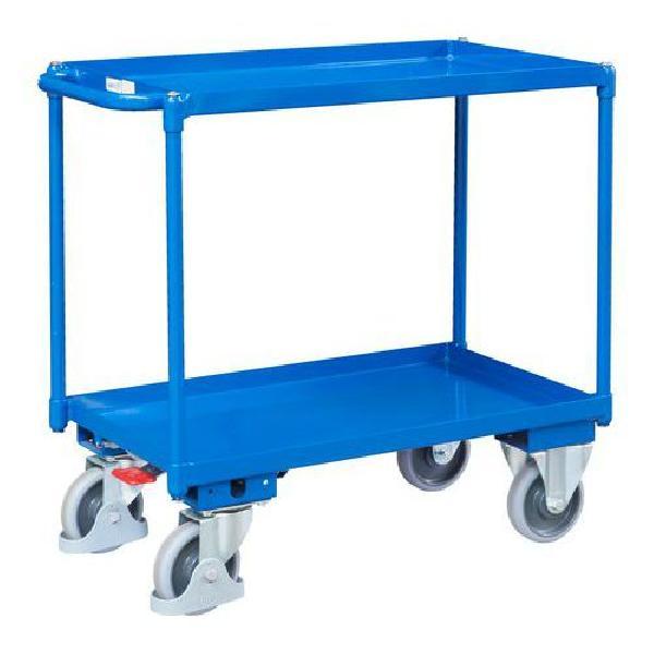 Policový vozík s madlem, do 400 kg, 2 police s vyvýšenými hranami (MB-1065113)