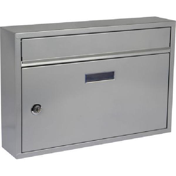 Kovová poštovní schránka Cerusit, stříbrná (MB-1123030)