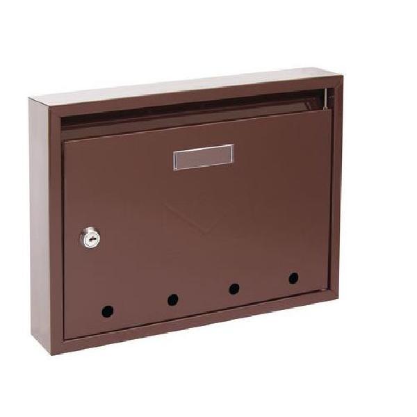 Kovová poštovní schránka Epidot, hnědá (MB-1123035)