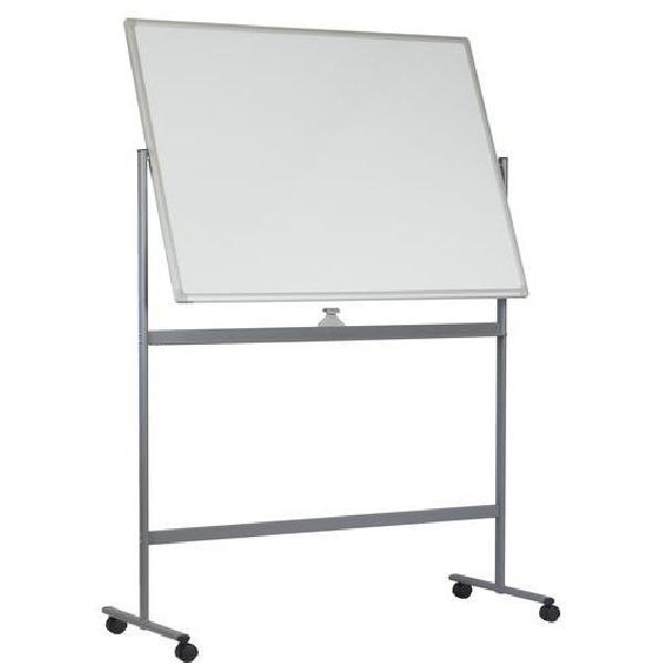 Mobilní bílá magnetická tabule Basic, oboustranná, 90 x 120 cm (MB-1133060)