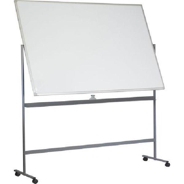 Mobilní bílá magnetická tabule Basic, oboustranná, 120 x 180 cm (MB-1133061)