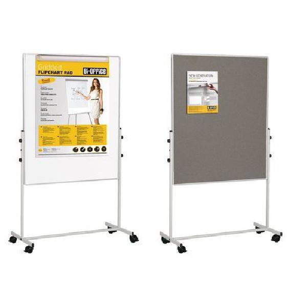 Mobilní plstěná a magnetická tabule Bi-Office, oboustranná (MB-880007)