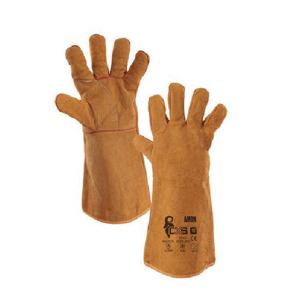 Svářečské kožené rukavice CXS, hnědé (MB-8380001)