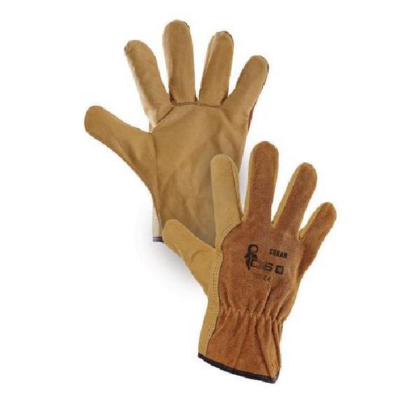 Kožené rukavice CXS, hnědé (MB-8380002)