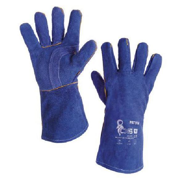 Svářečské kožené rukavice CXS, modré (MB-8751261)