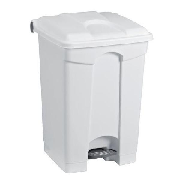 Plastový odpadkový koš Manutan, objem 70 l, bílý (MB-1651812)