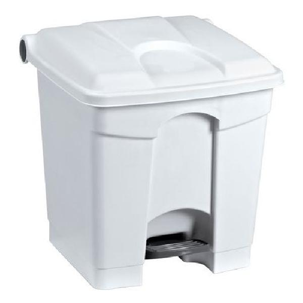 Plastový odpadkový koš Manutan, objem 30 l, bílý (MB-1651804)