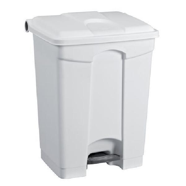 Plastový odpadkový koš Manutan, objem 45 l, bílý (MB-1651808)