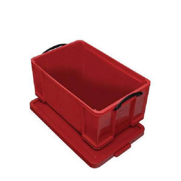 Plastový úložný box s víkem na klip, červený, 64 l (MB-932343)