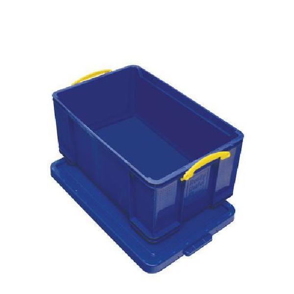 Plastový úložný box s víkem na klip, modrý, 64 l (MB-932346)