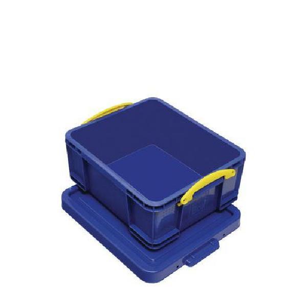 Plastový úložný box s víkem na klip, modrý, 18 l (MB-932344)