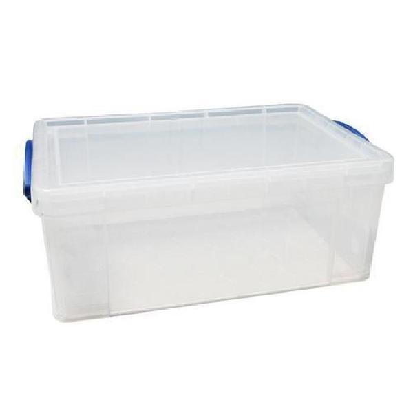 Plastový úložný box s víkem na klip, průhledný, 9 l (MB-932301)
