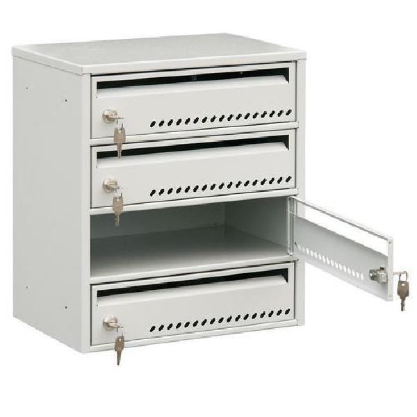Modulová kovová poštovní schránka TG, 4 boxy (MB-415132)