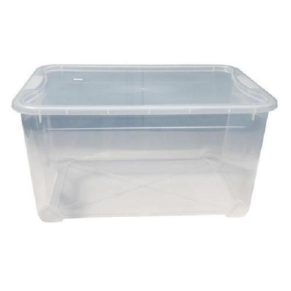 Plastový úložný box s víkem, průhledný, 47 l (MB-813123)