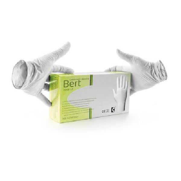 Jednorázové latexové rukavice, vel. 7 (MB-875066)