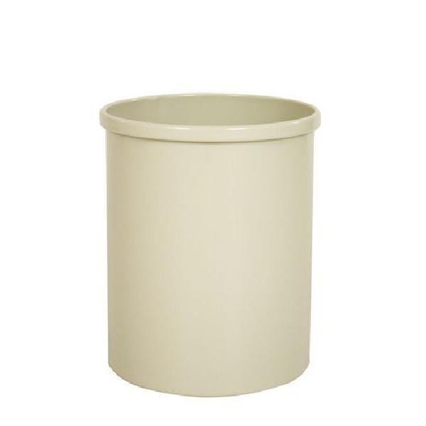 Kovový odpadkový koš Tube, objem 15 l, bílý (MB-973123)
