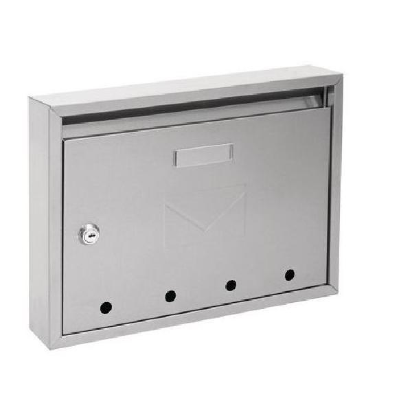 Kovová poštovní schránka Epidot, stříbrná (MB-1123033)