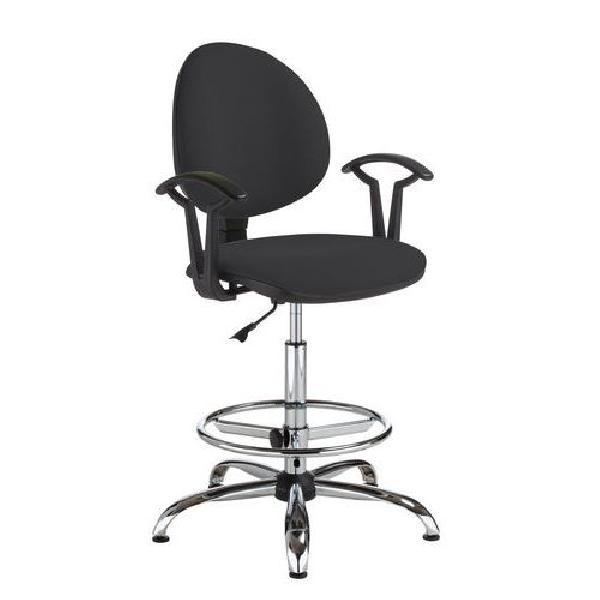 Pracovní židle Smarty s kluzáky, černá (MB-1026181)
