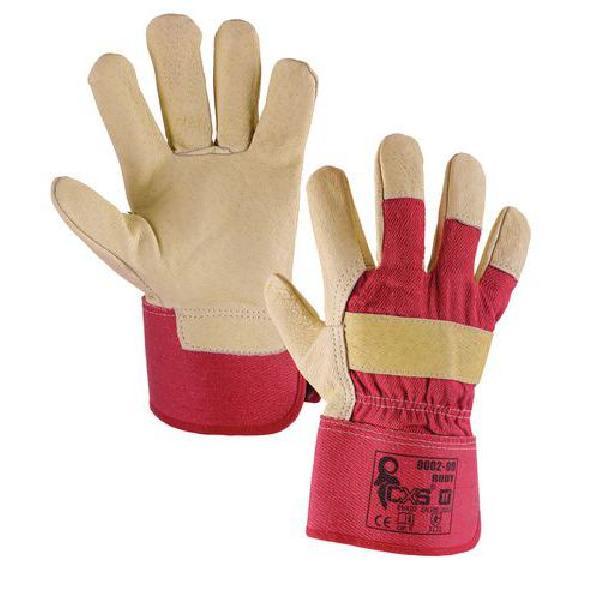 Kožené rukavice CXS, béžové/červené (MB-875007)