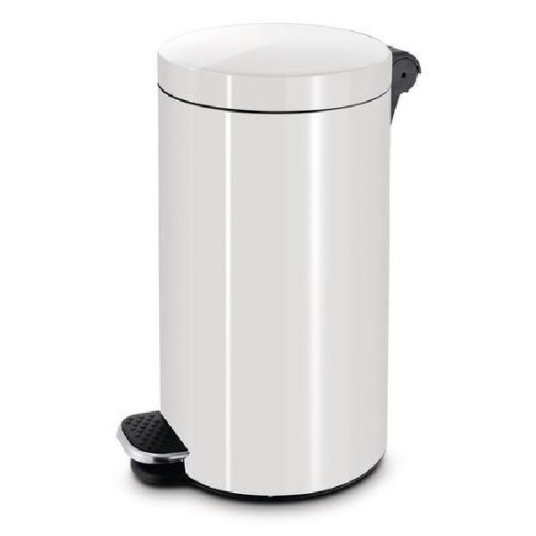 Kovové odpadkové koše Basic, objem 30 l, Kapacita: 30 L, Materiál: kov, Barva: Bílá, (MB-1139086)