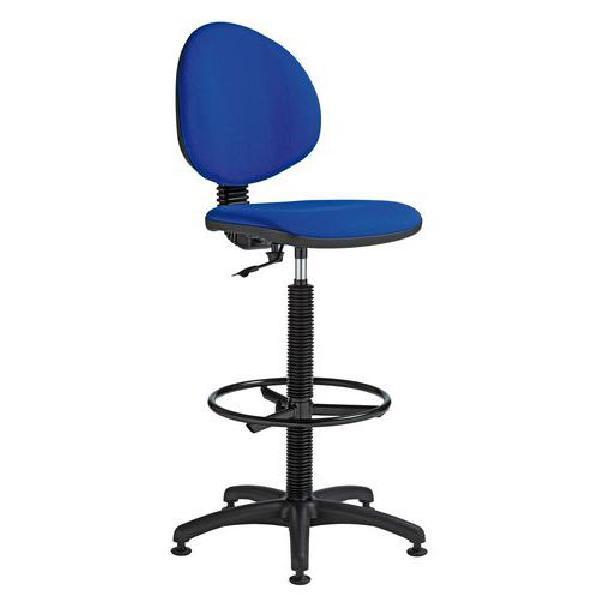 Zvýšená pracovní židle Stella s kluzáky, modrá (MB-1026184)