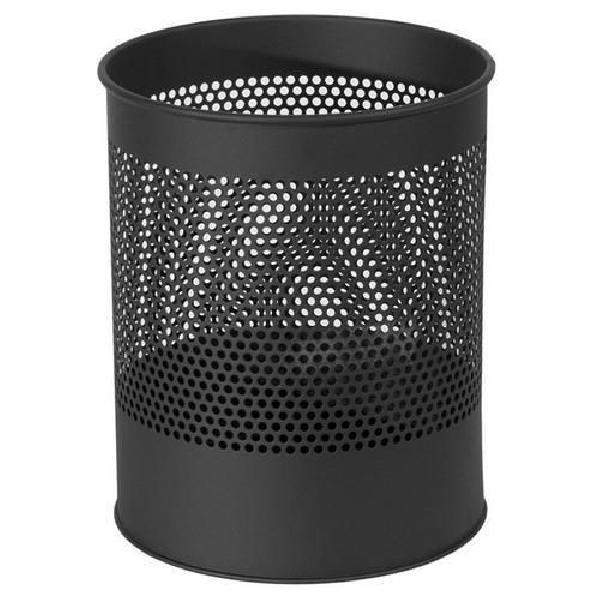 Kovový odpadkový koš Gap, objem 15 l, černý (MB-973015)