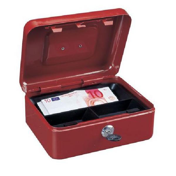 Přenosná pokladna, 3 přihrádky, červená, 90 x 20 x 16,5 cm (MB-885434)
