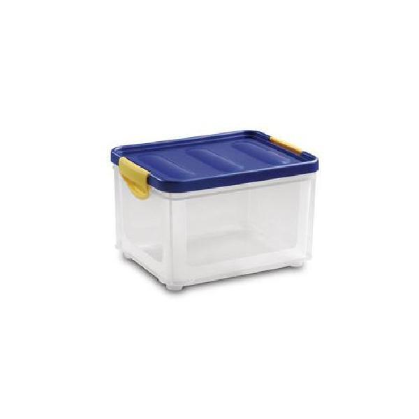 Plastový úložný box s víkem na klip, 19,5 l (MB-813186)