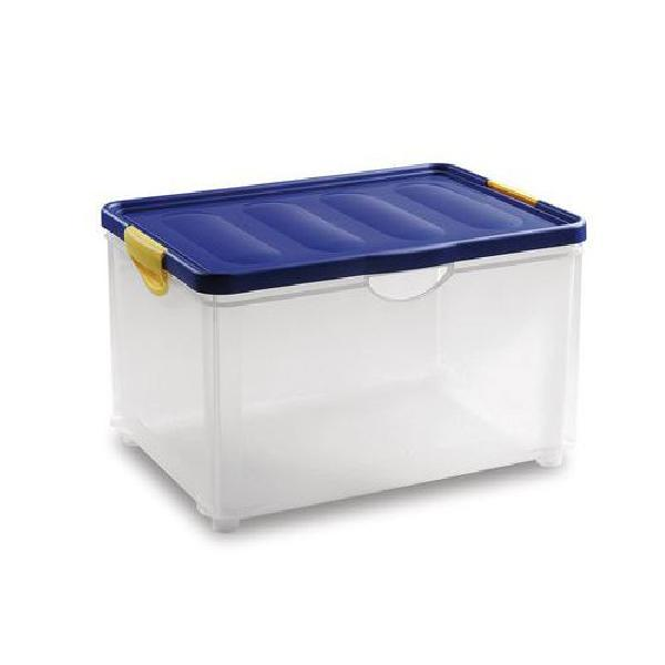 Plastový úložný box s víkem na klip, 58,5 l (MB-813187)