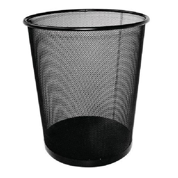 Drátěný odpadkový koš Rib, objem 12 l, černý (MB-846242)