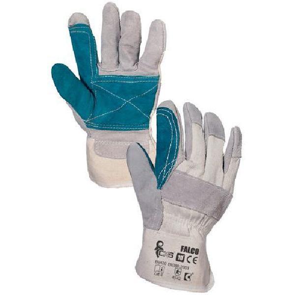 Kožené rukavice CXS se zvýšenou odolností, bílé/zelené (MB-875006)